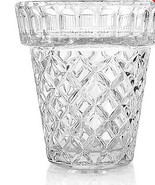"Marquis by Waterford 5.25"" Diamond Cut Crystal Flower Pot  - $14.90"