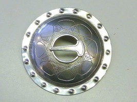 SIGNED Estate Buckle Shield Kilt Sterling Silver Pin Brooch Scottish Cel... - $39.99
