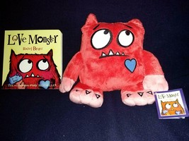 Merrymakers Love Monster Plush Animal 11 Inches & Hardcover Book-Rachel ... - $59.39