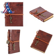 Leather Writing Journal Notebook, Evz Classic Key Bound Retro Vintage No... - $10.01+