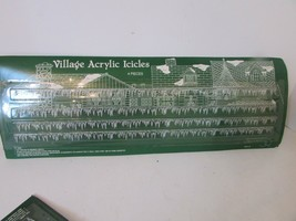 DEPT 56 52116 VILLAGE ACRYLIC ICICLES 4 PIECES NEW IN PKG CUT TO SIZE  - $6.81