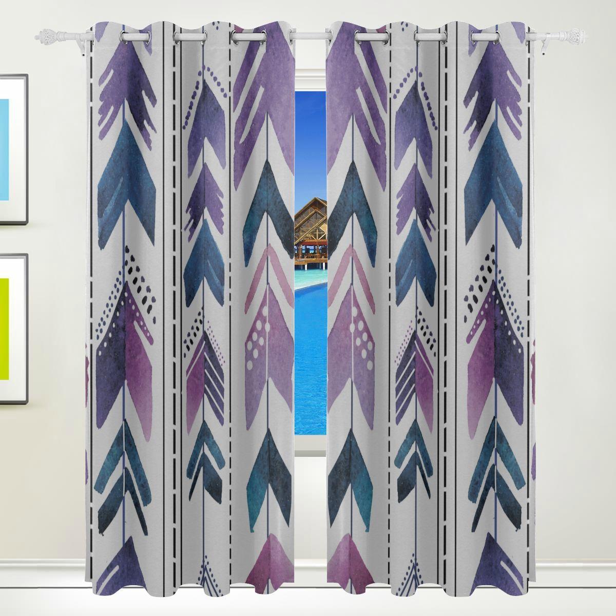 Xl Blackout Curtain Ethnic Colorful Arrow Tribal Print