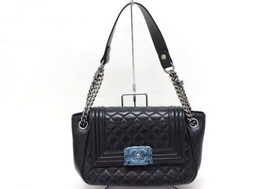 AUTHENTIC CHANEL Boy Chanel Lambskin Leather Ch... - $3,820.00