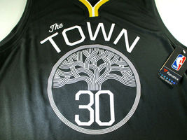 "STEPHEN CURRY / AUTOGRAPHED G.S. WARRIORS ""THE TOWN"" BLACK NBA JERSEY / BECKETT image 3"