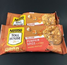 Nestle Toll House Pumpkin Spice Flavored Filled Baking Truffles 2 pack 9 oz each - $4.00