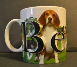 Beagle Dog Coffee Mug AmericaWare 2013 Large Size 3D Lettering EUC - $16.74