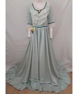 CIVIL WAR Costume Long Dress Southern Belle Gown Festival Halloween Maid... - $272.25