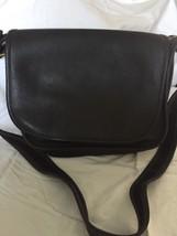 COACH Black Legacy Flap Leather Cross Body Bag Black - $69.29