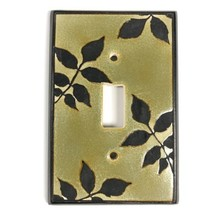 Handmade Ceramic Switch Plate Cover by All Fired Up Canada Branches Leav... - $10.91