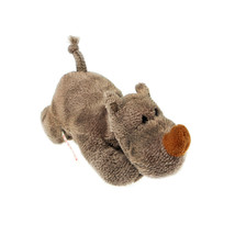 MagNICI Rhino Brown Stuffed Toy Animal Magnet in Paws 5 inches - $11.00