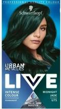 Schwarzkopf Live Metallic Shine Permanent Colour Hair Dye Midnight Jade Green - $16.14