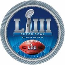 "Super Bowl LIII 2019 Atlanta 8 ct 9"" Dinner Plates Paper Superbowl 53 - $4.39"