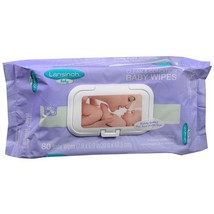Lansinoh Clean & Condition Baby Wipes 80 ea Pack of 2