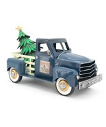 Metal Holiday Truck with a removable Christmas Tree (Blue) - $74.95