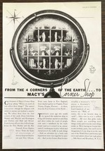 1937 Macy's Corner Shop Print Ad From the Four Corners of the Earth - $12.69