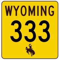 Wyoming Highway 333 Sticker R3516 Highway Sign - $1.45+