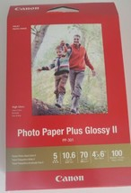 Canon Plus Glossy II PP-301 Inkjet Print Photo Paper - 100 Sheets, Papel fotos - $13.86