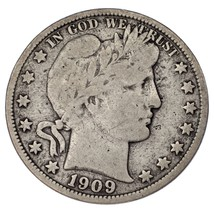 1909-O Barber 50C Half Dollar Fine Condition, Natural Color, Some Toning - $62.36