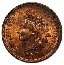 1904 One Cent Indian Head Penny Coin Lot# A 2193