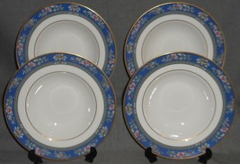 Set (4) 1993 Royal Doulton Bone China AUSTIN PATTERN Soup Bowls ENGLAND - $63.35