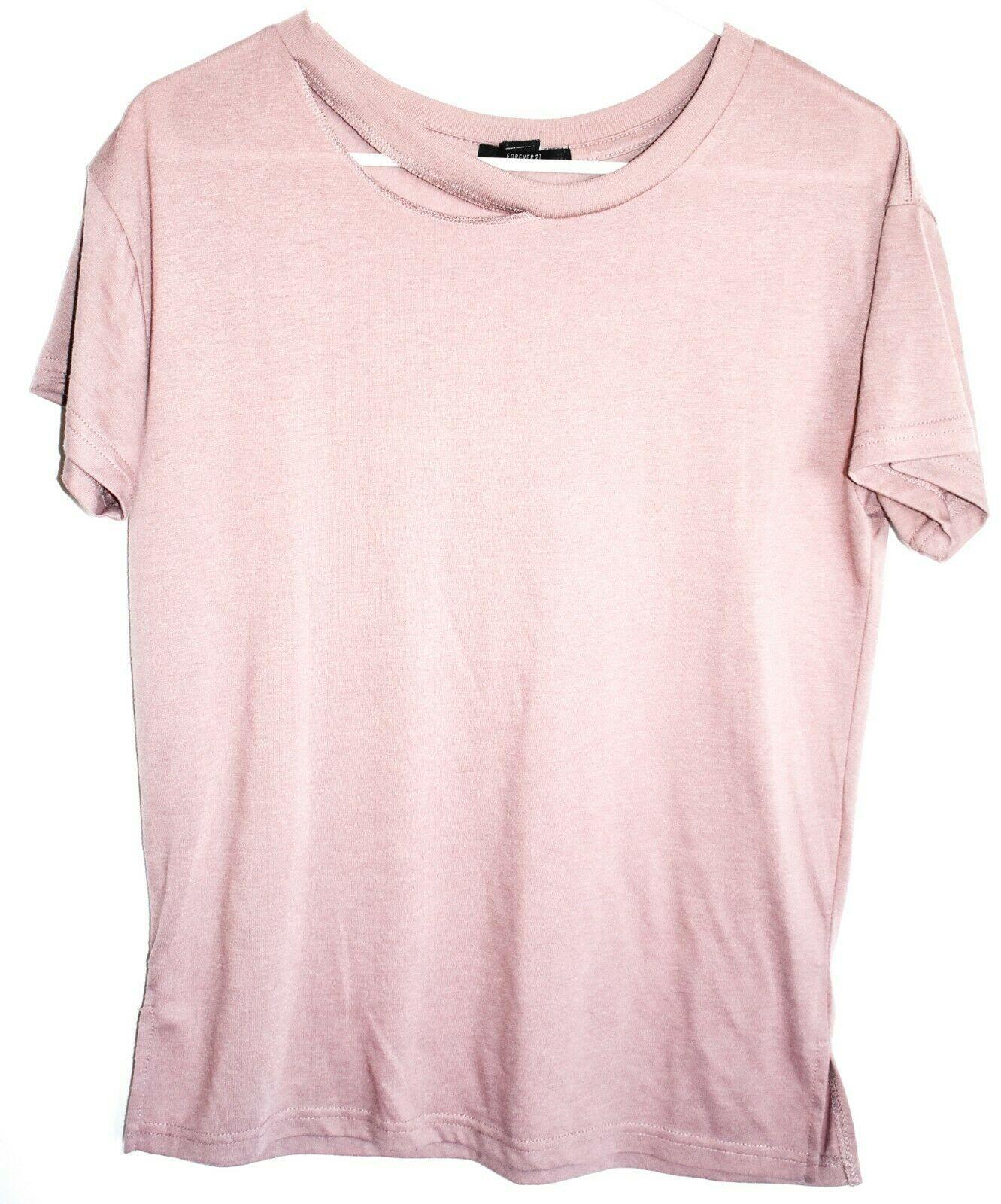 Forever 21 Mauve Purple Jersey Crew Neck T-Shirt Top Size S