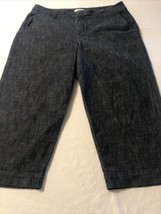 Coldwater Creek Women's Jeans Dark Blue Crop Stretch 4 Pocket Size 16 X 22 - $17.81