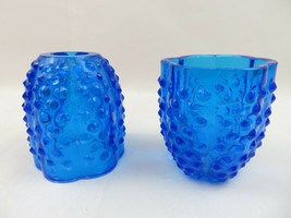 Vintage hobnail parts for fairy lamp blue glass Americana deco - $28.00