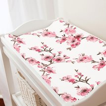 Carousel Designs Pink Cherry Blossom Changing Pad Cover - $30.69