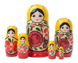 "The Littlest Matryoshka Nesting Doll - 5"" w/ 6 Pieces - $33.00"