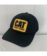 CAT Diesel Power Hat Cap Black Farmer Trucker Caterpillar - $24.72