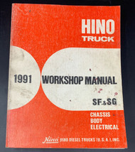 Hino Truck 1991 SF & SG Chassis Body Electrical Service Workshop Manual ... - $28.45