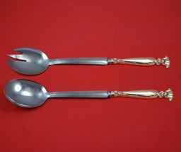 Romance of the Sea by Wallace Sterling Silver Salad Serving Set Modern Custom - $189.00