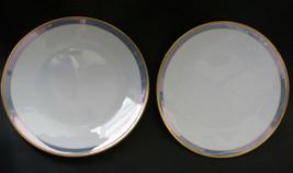 "2 Rosenthal Gala Blue Classic Rose Dessert Plates 6 3/4"" Loewy Mid Century - $42.56"