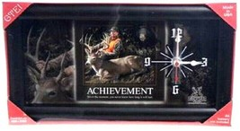 ACHIEVEMENT CLOCK  Deer Hunter  GTEI Quartz Clock Framed Hang or Stand - $12.86