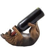 Drinking German Shepherd Dog Wine Bottle Holder Decorative Display Stand... - $26.68