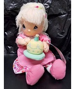 Precious Moments Plush Birthday Candy Cake Girl Doll Julia Pink Gift Par... - $18.76