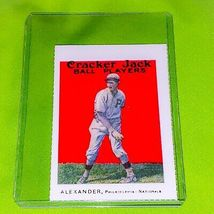 VINTAGE MLB GROVER ALEXANDER HOF 1978 BERT SUGAR CRACKER JACK REPRINT #3... - $1.00