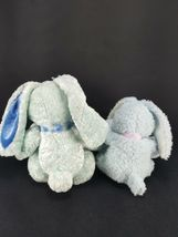 Lot 2 Easter Bunny Rabbit Blue White Pink bow Plush Stuffed Animal Beanie image 4