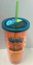 "Novelty Reusable 20oz ""Super Cali.."" Printed Cup W/Straw, Free Shipping - $8.91"