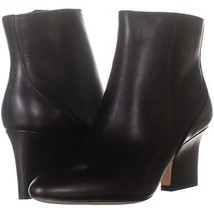 Enzo Angiolini Cadyn Pointed Toe Heeled Ankle Boots 044, Black Leather, ... - $39.35