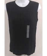 Foxcroft  Sweater Sleeveless Black Womens Small Or Medium 100% Supima Cotton   - $13.99