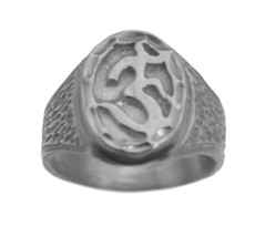 Sterling silver 925 Hindu Om Ring Beautiful Jewelry Pick Size Buddhism Y... - $26.47