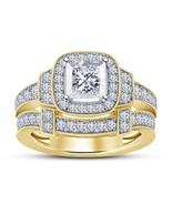 Princess Cut Diamond Womens Wedding Bridal Ring Set 14k Gold Finish 925 ... - $97.99