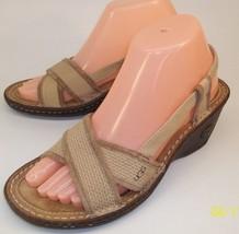 UGG Australia Womens US 7 Beige Suede Slip On Slingback Sandals Open Toe Shoes - $55.85