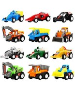 Yeonha Toys Pull Back Vehicles, 12 Pack Mini Assorted Construction Vehicles - $10.66