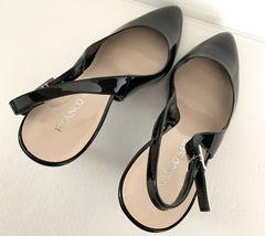 FRANCO SARTO Harla Black Patent Leather Slingback Pumps Heels SZ 8.5M image 10