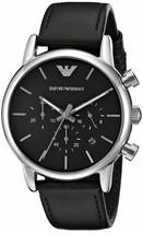 Emporio Armani Men's AR1733 Dress Black Leather Watch - $113.91