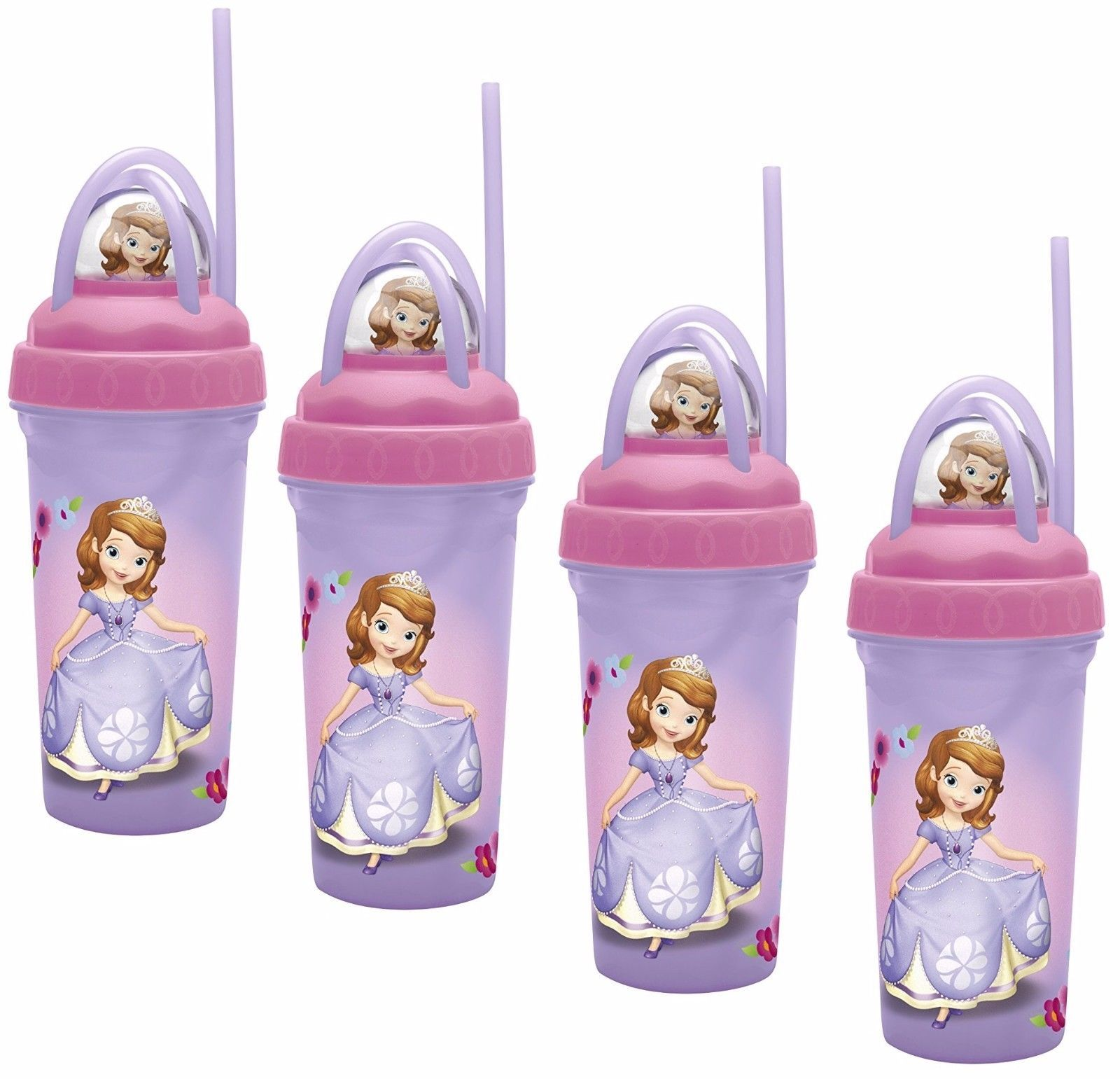Zak Designs Disney's Sofia The First Loopity Loop Tumbler, 11oz - Pack of 4 - $12.86