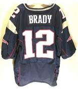 New England Patriots Tom Brady #12 NFL Nike AFC Navy Blue Red White Jers... - $59.39