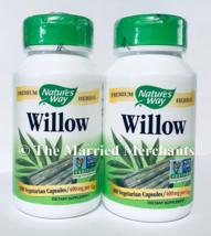 (2) Nature's Way Willow 400 mg per cap 100 capsules each 11/2022 FRESH! - $21.99